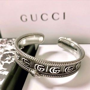 New Gucci GG Marmont Snake Cuff Bangle Bracelet